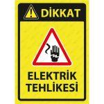 PVC - Elektrik Tehlikesi Levhası